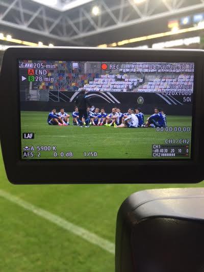 TATA. Primer encuentro de Martino con sus jugadores. El 4-2-3-1 es el esquema elegido por el DT para este amistoso sin Messi.