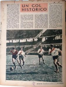 """""""REPERCUSIÓN MEDIÁTICA"""". La revista El Gráfico era el medio futbolero por excelencia y allí salía todo lo importante. Esta es la página que anticipaba que este iba a ser un gol histórico."""