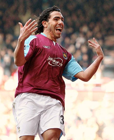 HÉROE. Llegó a West Ham desde Corinthians. en el club de Londres, jugó 29 partidos y metió 7 goles. uno de ellos fue el que los salvó del descenso en la temporada 2006/2007.