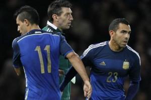 EL REGRESO. Iban 18 minutos del segundo tiempo. Argentina derrotaba a Croacia 2-1, cuando Martino decidió poner a Carlitos por Agüero. Es uno de los hechos más relevantes de la histiroa reciente del equipo nacional.