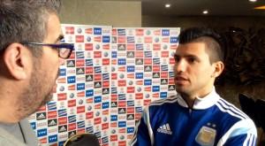 """KUN. """"Siempre pienso en la final. No pude dar lo que quería. Pero también pienso que llegamos a la final"""". De gran momento en el Manchester City, Agüero piensa en una revancha con la camiseta nacional."""